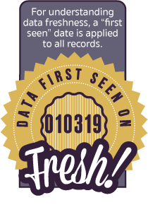 For understanding data freshness, a last seen date is applied to all records.